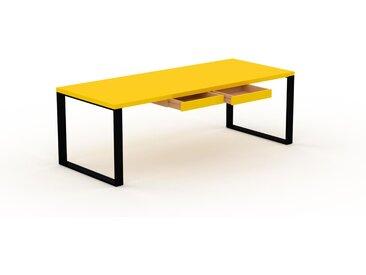 Bureau - Jaune, moderne, table de travail, avec tiroir Jaune - 220 x 75 x 90 cm, modulable