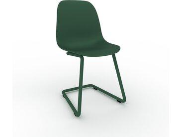 Chaise cantilever Vert sapin de 49 x 82 x 44 cm au design unique, configurable