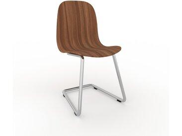 Chaise cantilever Noyer de 49 x 83 x 44 cm au design unique, configurable