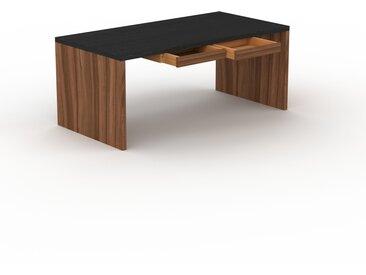 Bureau - Wengé, moderne, table de travail, avec tiroir Noyer - 180 x 75 x 90 cm, modulable