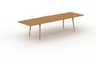 Table à manger - Chêne, design scandinave, pour salle à manger ou cuisine nordique, table extensible à rallonge - 320 x 75 x 90 cm