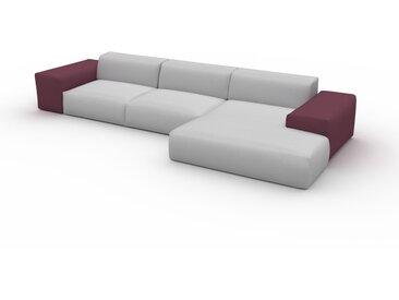 Canapé convertible - Gris Clair, design arrondi, canapé lit confortable, moelleux et lit confortable - 398 x 72 x 168 cm, modulable