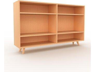 Range CD - Hêtre, design contemporain, meuble pour vinyles, DVD - 152 x 91 x 35 cm, personnalisable