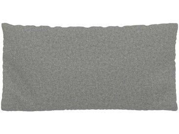 Coussin Gris Clair - 40x80 cm - Housse en Laine. Coussin de canapé moelleux