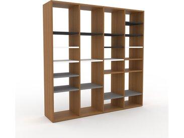 Bibliothèque - Chêne, design, étagère pour livres, sophistiquée, ouverte et fonctionelle - 156 x 157 x 35 cm, personnalisable