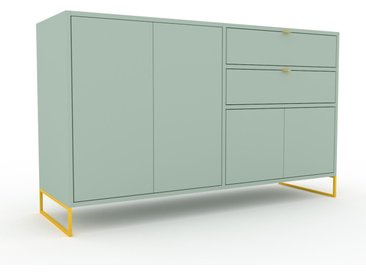 Commode - Vert céladon, moderne, raffinée, avec porte Vert céladon et tiroir Vert céladon - 152 x 91 x 47 cm