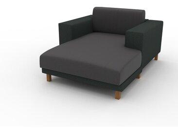 Canapé en cuir - Gris ardoise Cuir Végan, lounge, esprit club ou cosy avec toucher chaleureux, 128x 75 x 162 cm, modulable