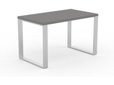 Bureau - Gris, design industriel, table de travail de qualité, avec pieds en métal - 120 x 75 x 70 cm, personnalisable