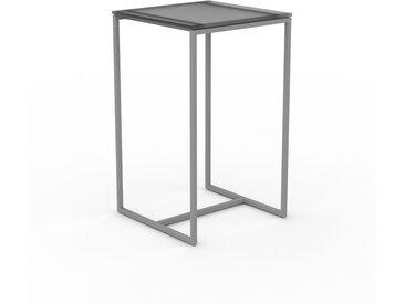Table basse en verre fumé dépoli, design industriel, bout de canapé raffiné - 42 x 71 x 42 cm, personnalisable