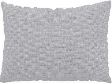 Coussin Gris Clair - 48x65 cm - Housse en Tissu Fin. Coussin de canapé moelleux