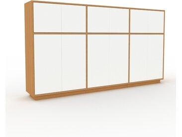 Buffet - Chêne, pièce modulable, enfilade, avec porte Blanc - 226 x 124 x 35 cm