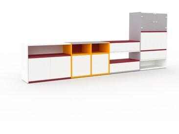 Vitrine - Blanc, design, pour documents, avec porte Blanc et tiroir Blanc - 303 x 118 x 35 cm