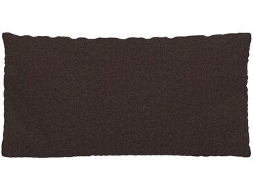 Coussin Brun Café - 40x80 cm - Housse en Laine. Coussin de canapé moelleux