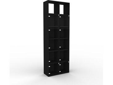Vitrine - Verre clair transparent, moderne, pour documents, avec porte Verre clair transparent - 79 x 233 x 35 cm, personnalisable