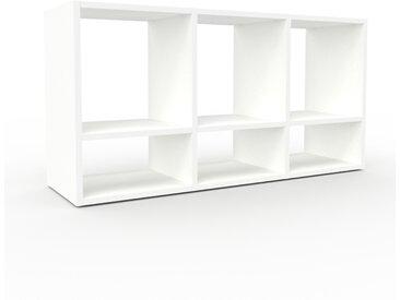 Range CD - blanc, design contemporain, meuble pour vinyles, DVD - 118 x 61 x 35 cm, personnalisable
