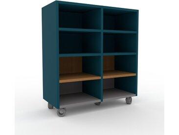Système d'étagère - Bleu pétrole, design contemporain, rangements de qualité, modulables - 79 x 87 x 35 cm, personnalisable