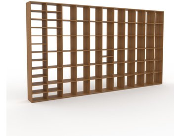 Bibliothèque - Chêne, design, étagère pour livres, sophistiquée, ouverte et fonctionelle - 426 x 233 x 35 cm, personnalisable