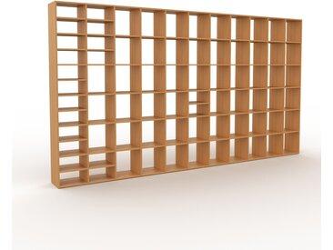 Bibliothèque en chêne, bois massif, aspect intemporel et naturel, étagère pour livres de qualité, solide et robuste - 426 x 233 x 35 cm