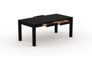 Bureau - Noir, design, table de travail raffinée, avec tiroir Noir et cadre Noir - 180 x 76 x 90 cm, modulable