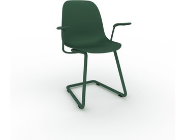 Chaise cantilever Vert sapin de 49 x 82 x 62 cm au design unique, configurable