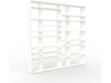 Bibliothèque - Blanc, design, étagère pour livres, sophistiquée, ouverte et fonctionelle - 229 x 233 x 35 cm, personnalisable