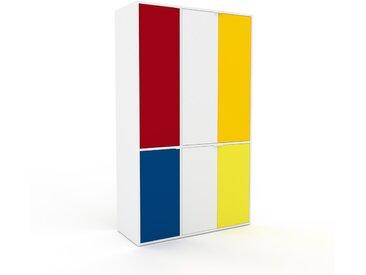 Buffet - Blanc, pièce modulable, enfilade, avec porte Blanc - 116 x 195 x 47 cm