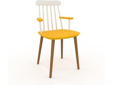 Chaise avec accoudoirs jaune de 43 x 82 x 53 cm au design unique, configurable