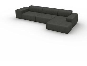 Canapé convertible - Gris ardoise, design arrondi, canapé lit confortable, moelleux et lit confortable - 357 x 72 x 168 cm, modulable