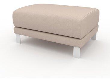 Pouf - Blanc crème, design épuré, 80 x 42 x 60 cm, modulable