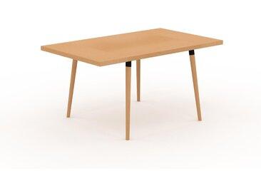 Table à manger - Hêtre, design scandinave, pour salle à manger ou cuisine nordique, table extensible à rallonge - 150 x 75 x 90 cm