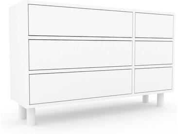 Commode - Blanc, pièce de caractère, sophistiquée, avec tiroir Blanc - 116 x 72 x 35 cm, personnalisable