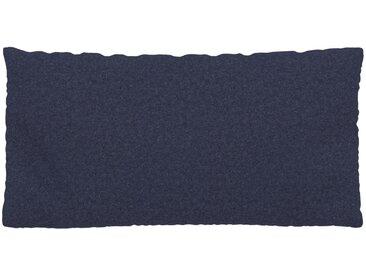 Coussin Bleu Denim - 40x80 cm - Housse en Laine. Coussin de canapé moelleux