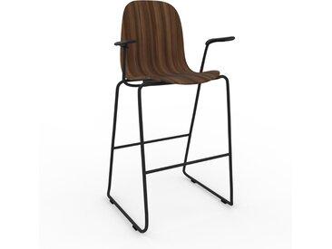 Chaise de bar Noyer de 49 x 113 x 62 cm au design unique, configurable