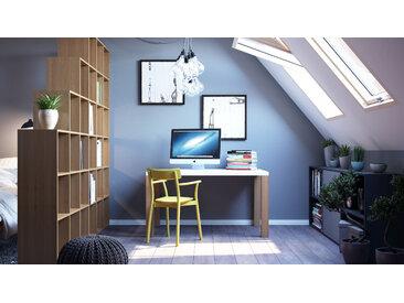 Bureau - Blanc, design contemporain, table de travail, fonctionnelle - 140 x 76 x 90 cm, modulable