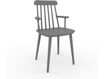 Chaise avec accoudoirs gris de 43 x 82 x 53 cm au design unique, configurable