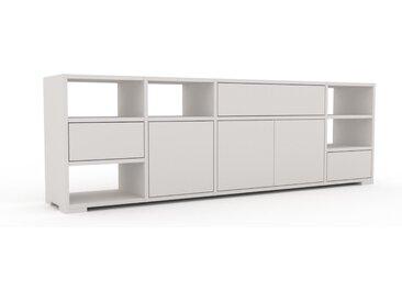 Enfilade - Blanc, design, buffet, avec porte Blanc et tiroir Blanc - 193 x 62 x 35 cm