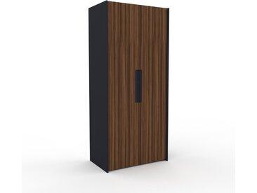 Dressing - Noyer, design, armoire penderie pour chambre ou entrée, à portes battantes - 104 x 233 x 62 cm, modulable