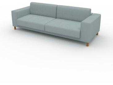 Canapé - Gris Clair, modèle épuré, canapé pour salon, en tissu avec pieds personnalisables - 248 x 75 x 98 cm, modulable