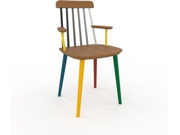Chaise avec accoudoirs Chêne de 43 x 82 x 53 cm au design unique, configurable
