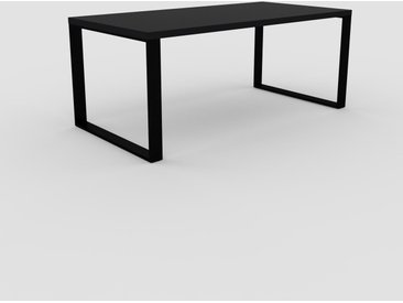 Bureau - Noir, design contemporain, table de travail, fonctionnelle - 180 x 75 x 90 cm, modulable