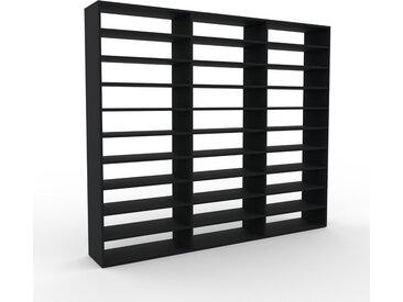 Range CD - Noir, design contemporain, meuble pour vinyles, DVD - 226 x 195 x 35 cm, personnalisable