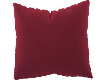 Coussin Rouge Corail - 50x50 cm - Housse en Velours. Coussin de canapé moelleux