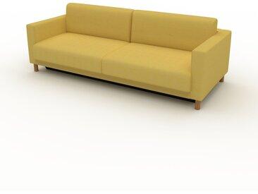 Canapé convertible - Jaune Moutarde, design épuré, canapé lit confortable, confortable avec coffre de rangement - 224 x 75 x 98 cm, modulable