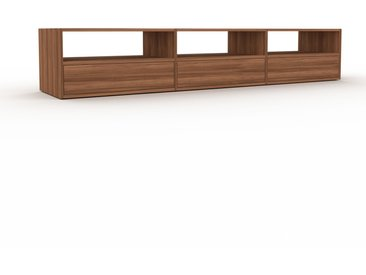Meuble TV - Noyer, contemporain, meuble hifi, multimedia raffiné, avec tiroir Noyer - 226 x 41 x 47 cm, configurable