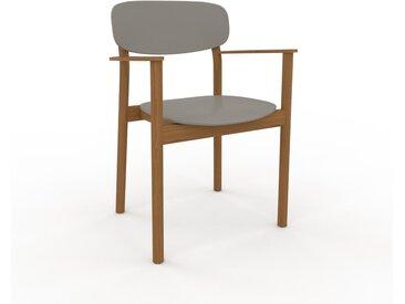 Chaise en bois Gris sable de 52 x 82 x 58 cm au design unique, configurable
