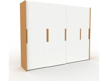 Dressing - blanc, design, armoire penderie pour chambre ou entrée, haut de gamme, avec portes coulissantes - 294 x 233 x 65 cm, modulable