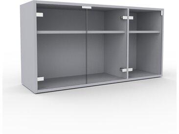 Vitrine - Verre clair transparent, moderne, pour documents, avec porte Verre clair transparent - 116 x 61 x 35 cm, personnalisable