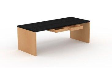 Bureau - Wengé, moderne, table de travail, avec tiroir Hêtre - 220 x 75 x 90 cm, modulable
