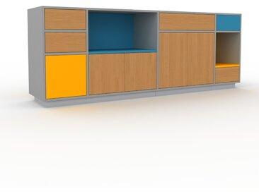 Meuble TV - Chêne, design, meuble hifi, multimedia, avec porte Chêne et tiroir Chêne - 229 x 85 x 47 cm