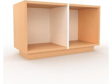 Meuble TV - Hêtre, design, meuble hifi, multimedia sophistiqué, pratique - 79 x 47 x 35 cm, personnalisable